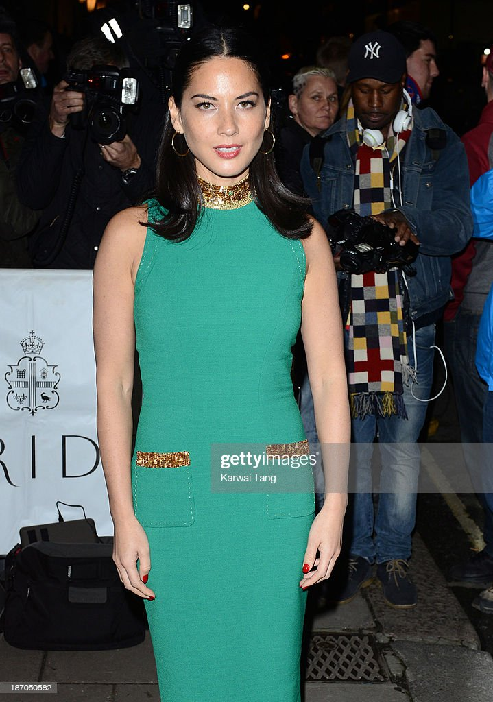 Olivia Munn attends the Harpers Bazaar Women of the Year Awards at Claridge's Hotel on November 5, 2013 in London, England.