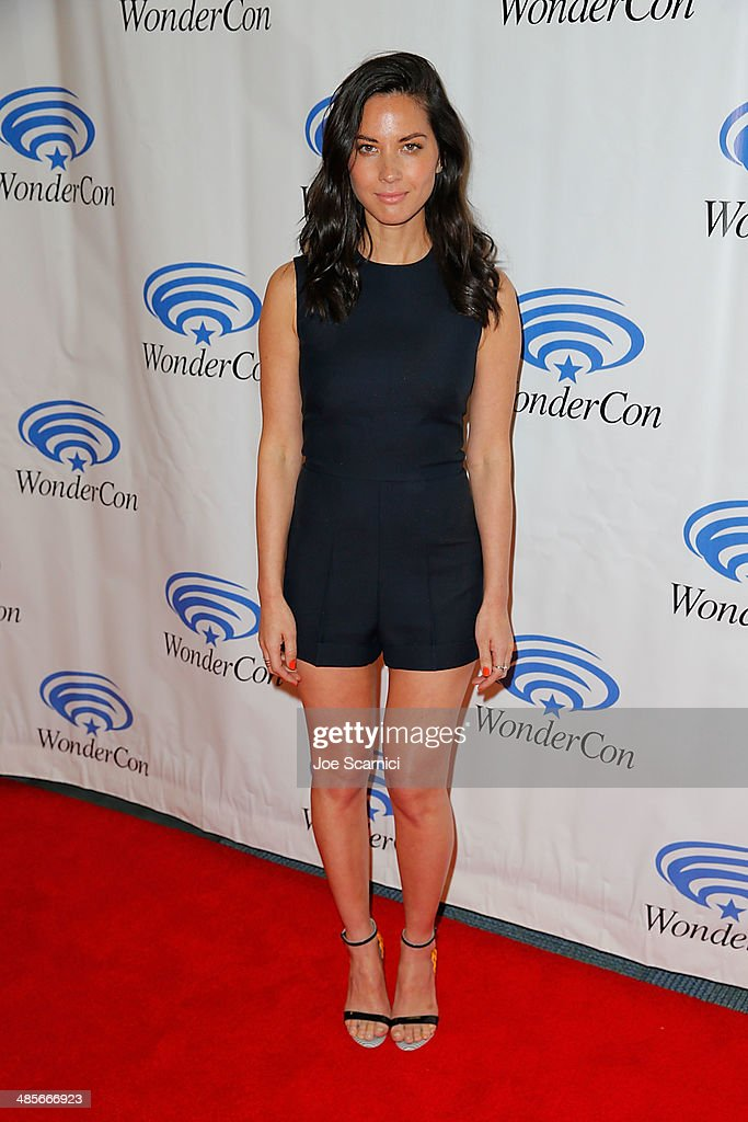 Olivia Munn attends the Sony Pictures' 'Deliver Us From Evil' Cast Filmmakers press line at Wondercon at Anaheim Convention Center on April 19 2014...