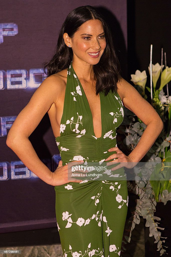 Olivia Munn attends the Stockholm premiere of 'Robocop' at Rigoletto on February 6, 2014 in Stockholm, Sweden.