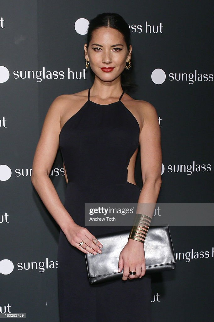 Olivia Munn attends the Sunglass Hut Times Square Store Launch Event at Sunglass Hut Times Square on September 10, 2013 in New York City.