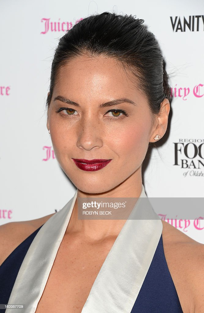Olivia Munn attends the Vanity Fair And Juicy Couture Celebration Of The 2013 Vanities Calendar party at Chateau Marmont February 18, 2013 in West Hollywood, California. AFP PHOTO Robyn BECK