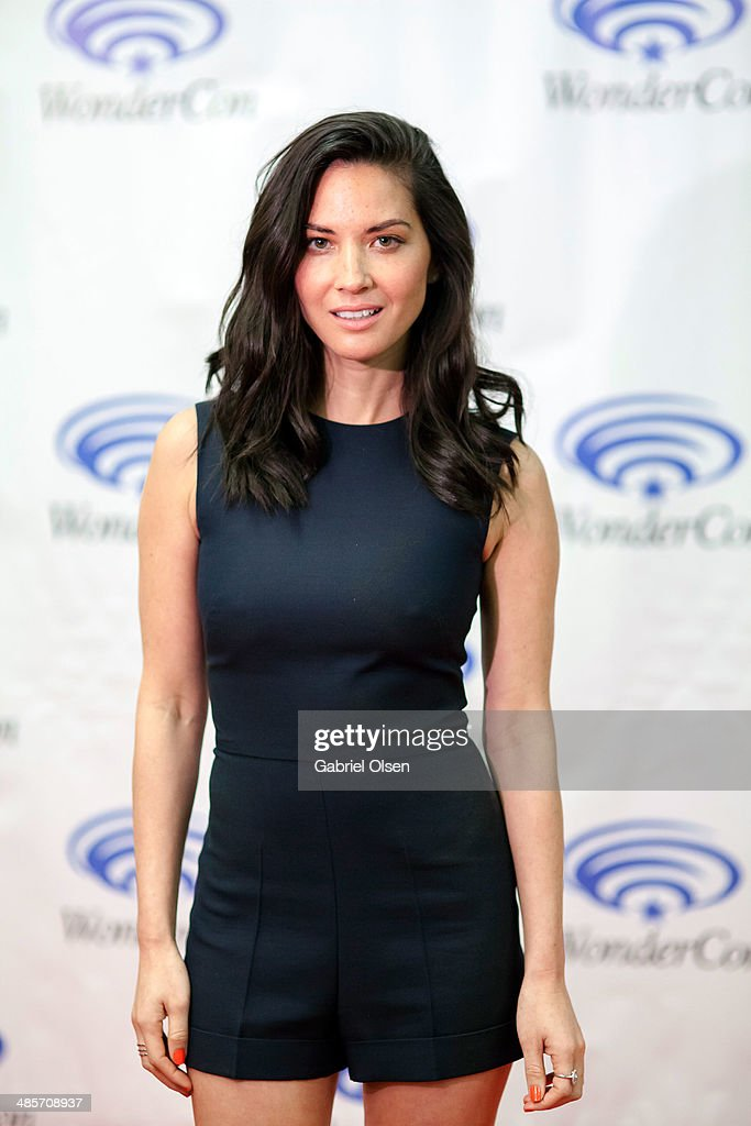 <a gi-track='captionPersonalityLinkClicked' href=/galleries/search?phrase=Olivia+Munn&family=editorial&specificpeople=598969 ng-click='$event.stopPropagation()'>Olivia Munn</a> attends WonderCon Anaheim 2014 - Screen Gems' 'Deliver Us From Evil' Photo Call at Anaheim Convention Center on April 19, 2014 in Anaheim, California.