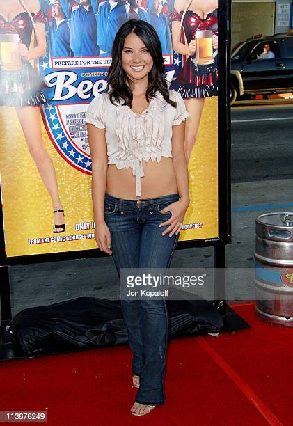 Olivia Munn during 'Beerfest' Los Angeles Premiere Arrivals at Grauman's Chinese in Hollywood California United States