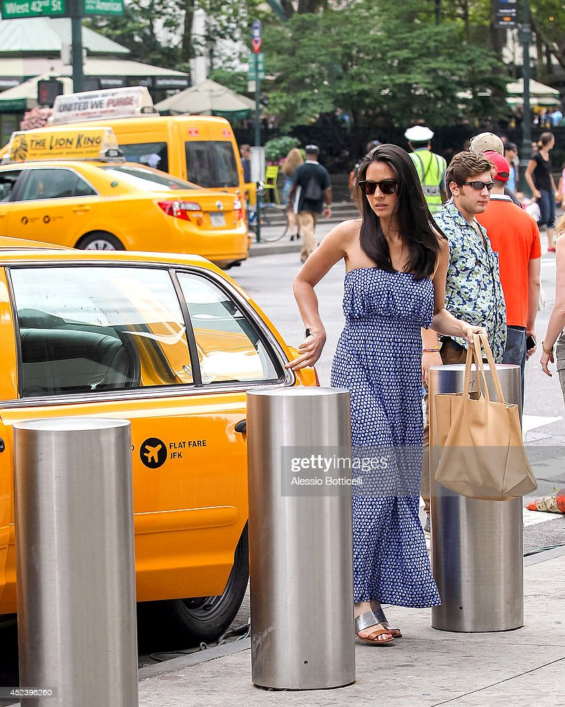 <a gi-track='captionPersonalityLinkClicked' href=/galleries/search?phrase=Olivia+Munn&family=editorial&specificpeople=598969 ng-click='$event.stopPropagation()'>Olivia Munn</a> is seen filming HBO's 'The Newsroom' at Bryant Park on July 19, 2014 in New York City.