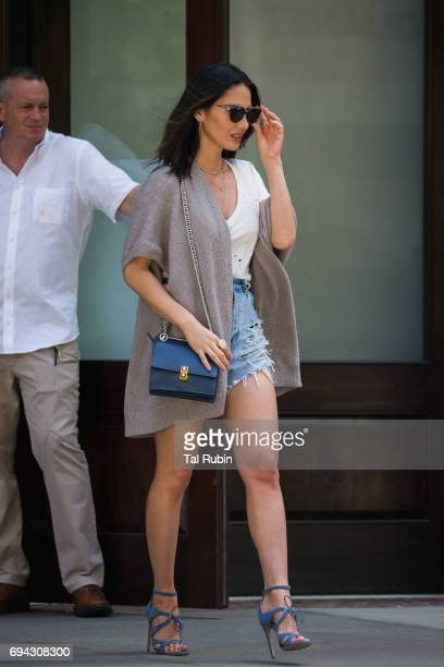 Olivia Munn is seen on June 9 2017 in New York City