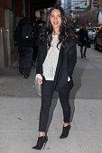 Olivia Munn seen arriving to her New York Hotel on February 17 2016 in New York City