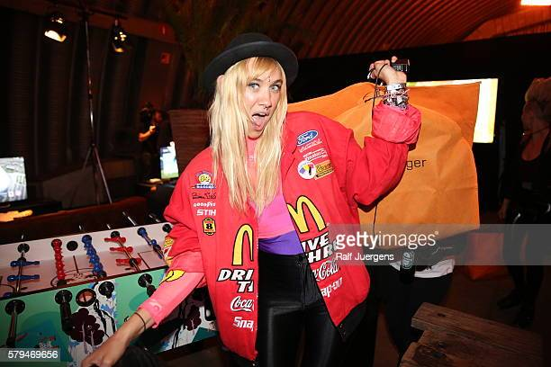 Olivia Nervo poses for a photograph during the ParookaVille Festival on July 15 2016 in Weeze Germany