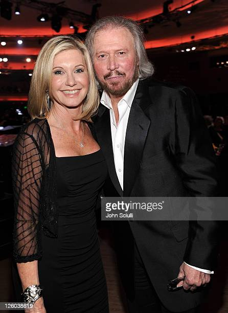 Olivia Newton John and Barry Gibb attend 'G'Day USA 2011' Black Tie Gala at Hollywood Palladium on January 22 2011 in Hollywood California