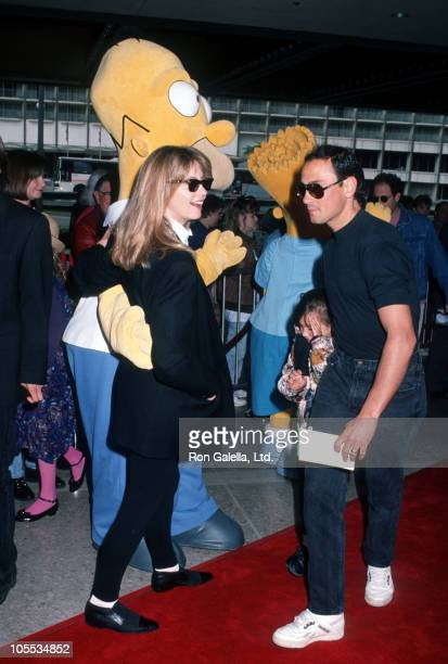 Olivia Newton John and daughter Chloe Lattanzi and Matt Lattanzi during Premiere of 'FernGully The Last Rainforest' at Cineplex Odeon Theater in...