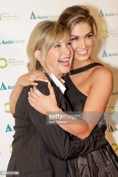 Olivia Newton John and Delta Goodrem attends the Olivia NewtonJohn Gala Red Carpet at Crown Palladium on September 8 2017 in Melbourne Australia