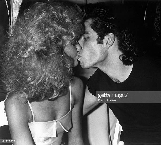 LOS ANGELES JANUARY 01 1978 Olivia Newton John and John Travolta at the Grease party at Paramount Studios circa 1978 in Los Angeles California...