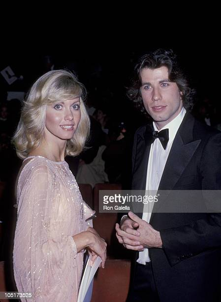 Olivia Newton John and John Travolta during 50th Annual Academy Awards at Dorothy Chandler Pavillion in Los Angeles California United States