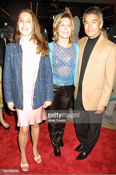 Olivia Newton John with daughter Chloe and Patrick Kim McDermott