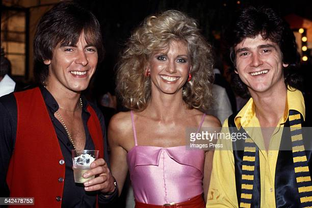 Olivia NewtonJohn and Bay City Rollers circa 1978 in Los Angeles California