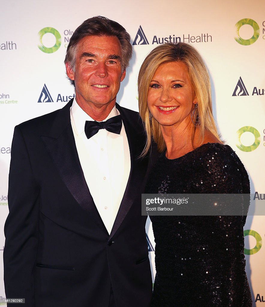 Olivia Newton-John and her husband John Easterling arrive at the inaugural ONJ Gala to raise funds for the Olivia Newton-John Cancer & Wellness Centre at the Regent Plaza Ballroom on September 20, 2013 in Melbourne, Australia.