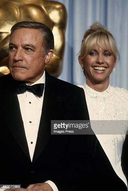 Olivia NewtonJohn and 'Xanadu' costar Gene Kelly at the 52nd Academy Awards circa 1980 in Los Angeles California