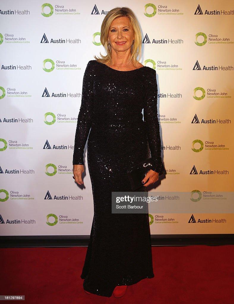 Olivia Newton-John arrives at the inaugural ONJ Gala to raise funds for the Olivia Newton-John Cancer & Wellness Centre at the Regent Plaza Ballroom on September 20, 2013 in Melbourne, Australia.