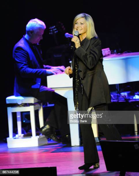 Olivia NewtonJohn performs at Mayo Performing Arts Center on April 11 2017 in Morristown New Jersey