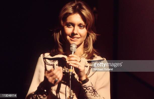Olivia NewtonJohn performs on BBC TV show Top Of The Pops on 7th March 1974