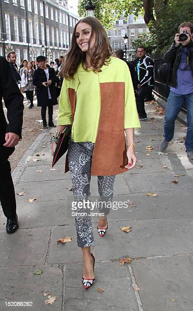 Olivia Palemo sighting at London Fashion Week on September 16 2012 in London England