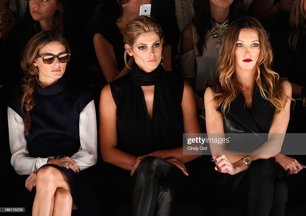 <a gi-track='captionPersonalityLinkClicked' href=/galleries/search?phrase=Olivia+Palermo&family=editorial&specificpeople=2639086 ng-click='$event.stopPropagation()'>Olivia Palermo</a>, actors <a gi-track='captionPersonalityLinkClicked' href=/galleries/search?phrase=Ashley+Greene&family=editorial&specificpeople=781552 ng-click='$event.stopPropagation()'>Ashley Greene</a> and <a gi-track='captionPersonalityLinkClicked' href=/galleries/search?phrase=Katie+Cassidy&family=editorial&specificpeople=569891 ng-click='$event.stopPropagation()'>Katie Cassidy</a> attend the Kaufmanfranco fashion show during Mercedes-Benz Fashion Week Spring 2014 at The Theatre at Lincoln Center on September 9, 2013 in New York City.