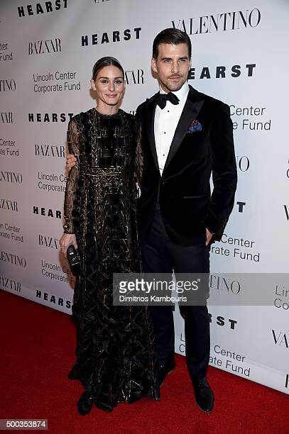 Olivia Palermo and Actor Johannes Huebl attends an evening honoring Valentino at Lincoln Center Corporate Fund Black Tie Gala on December 7 2015 in...