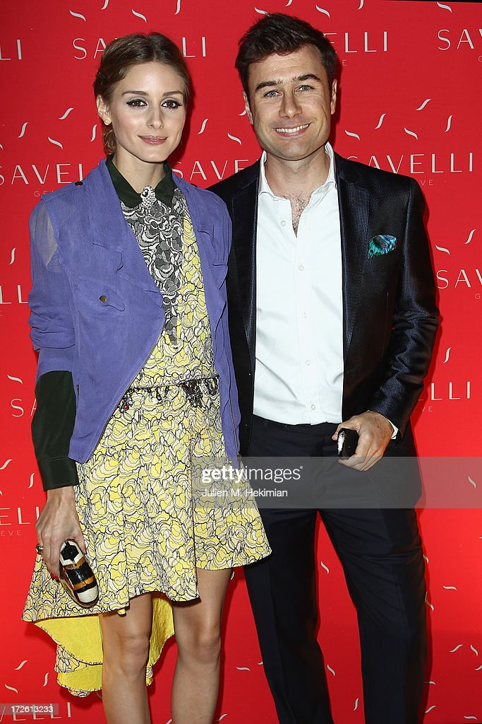 <a gi-track='captionPersonalityLinkClicked' href=/galleries/search?phrase=Olivia+Palermo&family=editorial&specificpeople=2639086 ng-click='$event.stopPropagation()'>Olivia Palermo</a> and Alessandro Savelli attend the Founder And CEO Alessandro Savelli And Contemporary Style Icon Julia Retoin Roitfeld Launch SAVELLI The World's First Luxury Smart Phone Especially For Women During Haute Couture Week at Musee Jacquemart-Andre on July 3, 2013 in Paris, France.