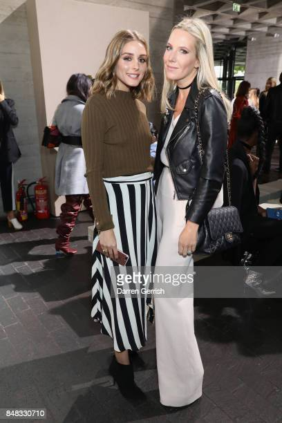 Olivia Palermo and Alice NaylorLeyland attend the Roland Mouret show during London Fashion Week September 2017 on September 17 2017 in London England