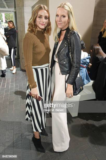 Olivia Palermo and Alice NaylorLeyland attend the Roland Mouret SS18 catwalk show during London Fashion Week September 2017 at The National Theatre...