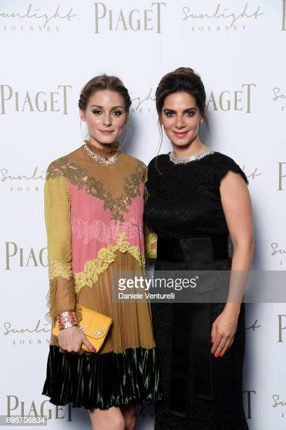 Olivia Palermo and Chabi Nouri attend Piaget Sunlight Journey Collection Launch on June 13 2017 in Rome Italy