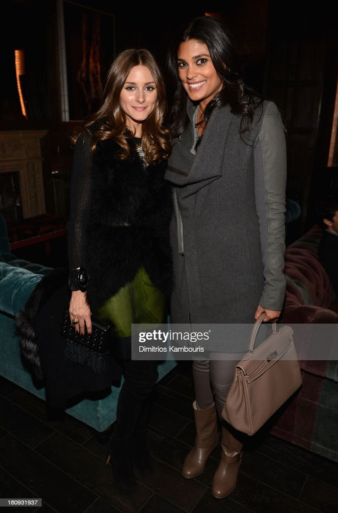 Olivia Palermo and designer Rachel Roy attend the La Perla After Party Hosted By DeLeon Tequila at The Electric Room on February 7, 2013 in New York City.