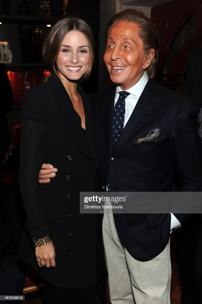 <a gi-track='captionPersonalityLinkClicked' href=/galleries/search?phrase=Olivia+Palermo&family=editorial&specificpeople=2639086 ng-click='$event.stopPropagation()'>Olivia Palermo</a> and designer <a gi-track='captionPersonalityLinkClicked' href=/galleries/search?phrase=Valentino+Garavani+-+Fashion+Designer&family=editorial&specificpeople=4297414 ng-click='$event.stopPropagation()'>Valentino Garavani</a> attend a book signing for Giancarlo Giammetti's Autobiography 'Private Giancarlo Giammetti,' hosted by Martine and Prosper Assouline at Assouline at The Plaza Hotel on November 5, 2013 in New York City.