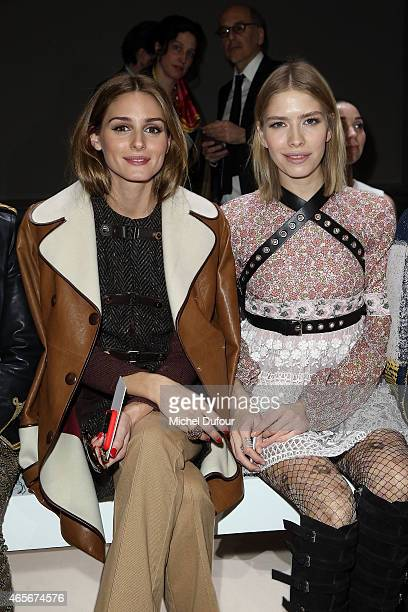Olivia Palermo and Elena Perminova Attend the Giambattista Valli show as part of the Paris Fashion Week Womenswear Fall/Winter 2015/2016 on March 9...