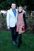 Olivia Palermo and guest attend the Christian Dior Spring Summer 2016 show as part of Paris Fashion Week Held at Musee Rodin on January 25 2016 in...