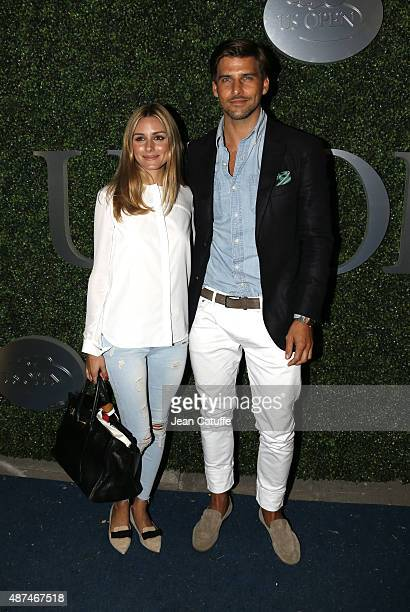 Olivia Palermo and her husband Johannes Huebl attend day ten of the 2015 US Open at USTA Billie Jean King National Tennis Center on September 9 2015...