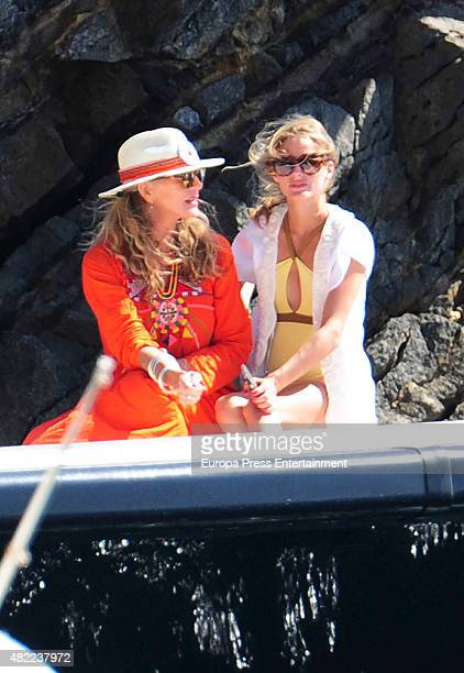 Olivia Palermo and her mother Lynn Hutchings are seen on July 28 2015 in Ibiza Spain