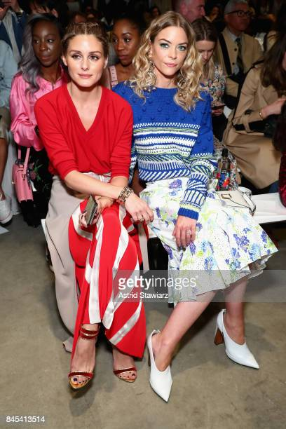 Olivia Palermo and Jaime King attend Prabal Gurung fashion show during New York Fashion Week The Shows at Gallery 2 Skylight Clarkson Sq on September...