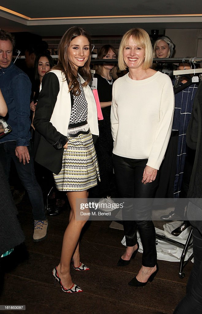 Olivia Palermo (L) and Jane Shepherdson attend the Whistles Limited Edition Autumn/Winter 2013 Collection at The Arts Club on February 17, 2013 in London, England.