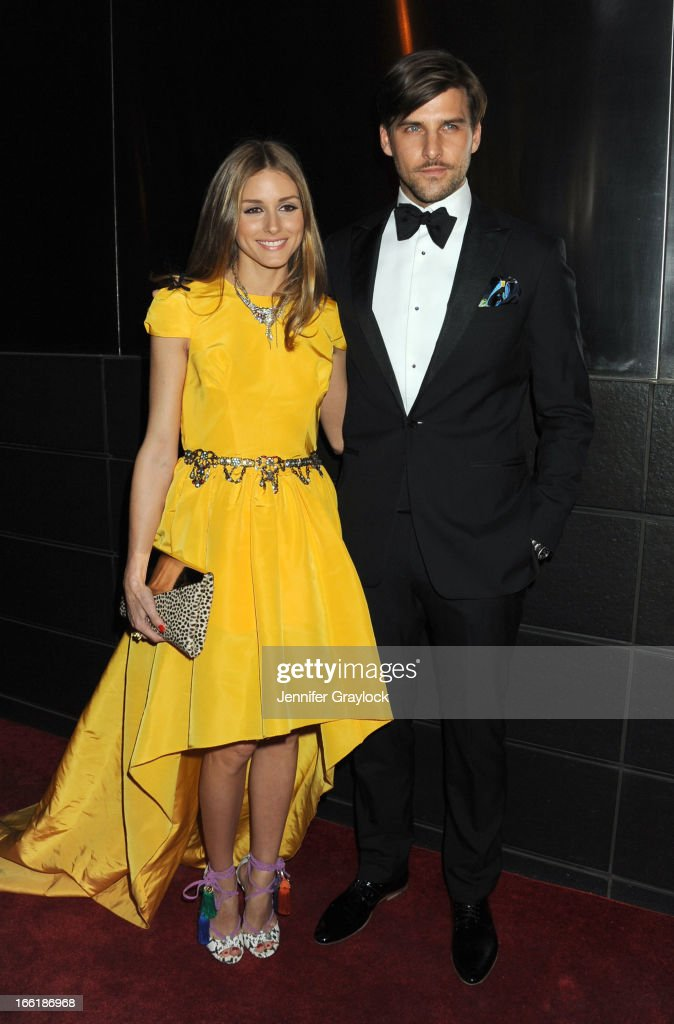 Olivia Palermo and Johannes Hubel attends the New Yorkers for Children 10th Anniversary Spring Dinner Dance New Year's in April: A Fool's Fete to benefit youth in foster care presented by Valentino at Mandarin Oriental Hotel on April 9, 2013 in New York City.