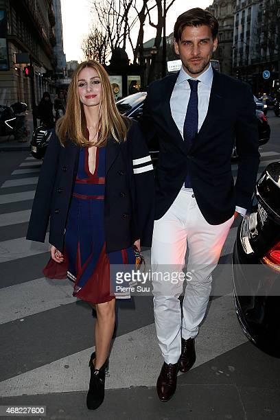 Olivia Palermo and Johannes Huebel attend the Tommy Hilfiger Boutique opening on March 31 2015 in Paris France