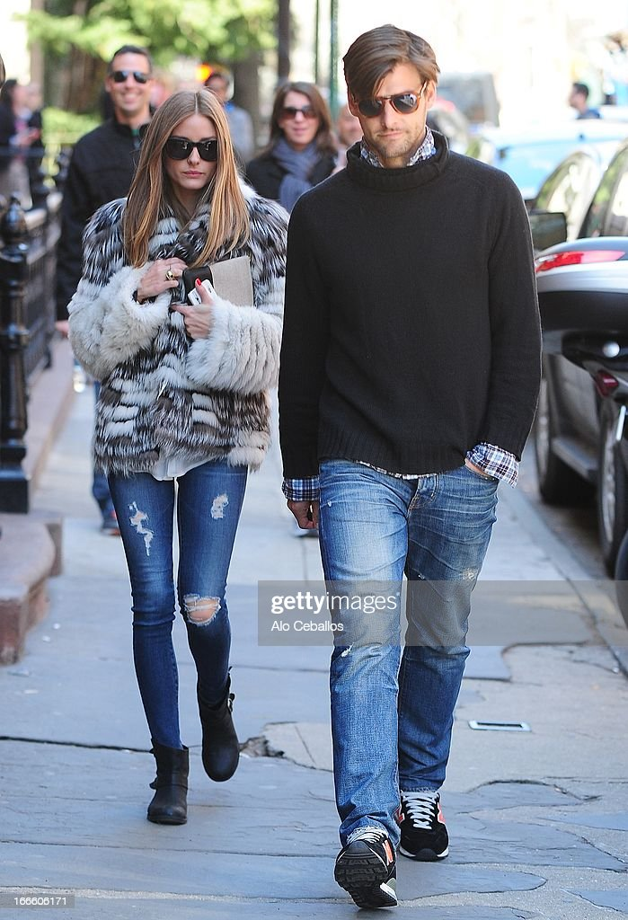 <a gi-track='captionPersonalityLinkClicked' href=/galleries/search?phrase=Olivia+Palermo&family=editorial&specificpeople=2639086 ng-click='$event.stopPropagation()'>Olivia Palermo</a> and <a gi-track='captionPersonalityLinkClicked' href=/galleries/search?phrase=Johannes+Huebl&family=editorial&specificpeople=5696811 ng-click='$event.stopPropagation()'>Johannes Huebl</a> are seen in the West Village on April 14, 2013 in New York City.