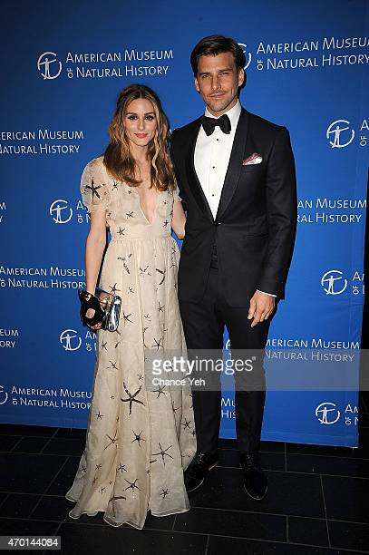 Olivia Palermo and Johannes Huebl attend 2015 Museum Dance 'Masquerade Retrograde' at American Museum of Natural History on April 17 2015 in New York...