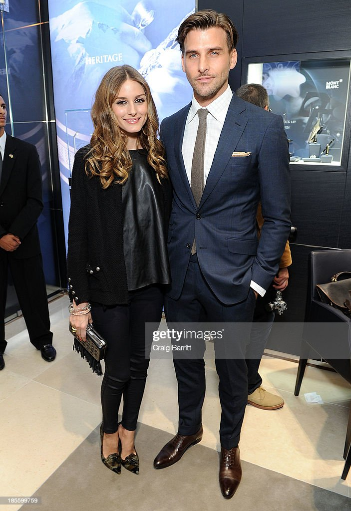 <a gi-track='captionPersonalityLinkClicked' href=/galleries/search?phrase=Olivia+Palermo&family=editorial&specificpeople=2639086 ng-click='$event.stopPropagation()'>Olivia Palermo</a> and <a gi-track='captionPersonalityLinkClicked' href=/galleries/search?phrase=Johannes+Huebl&family=editorial&specificpeople=5696811 ng-click='$event.stopPropagation()'>Johannes Huebl</a> attend Montblanc celebrates Madison Avenue Boutique Opening at Montblanc Boutique on Madison Avenue on October 22, 2013 in New York City.