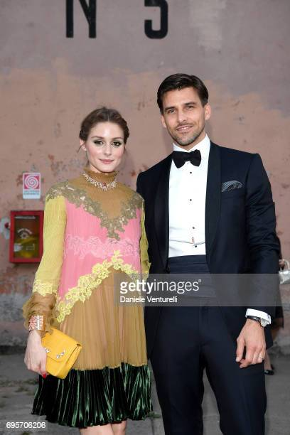 Olivia Palermo and Johannes Huebl attend Piaget Sunlight Journey Collection Launch on June 13 2017 in Rome Italy