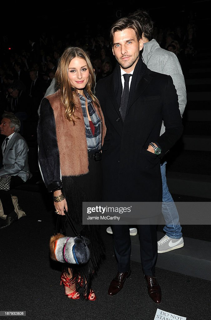 <a gi-track='captionPersonalityLinkClicked' href=/galleries/search?phrase=Olivia+Palermo&family=editorial&specificpeople=2639086 ng-click='$event.stopPropagation()'>Olivia Palermo</a> and <a gi-track='captionPersonalityLinkClicked' href=/galleries/search?phrase=Johannes+Huebl&family=editorial&specificpeople=5696811 ng-click='$event.stopPropagation()'>Johannes Huebl</a> attend the 2013 Victoria's Secret Fashion Show at Lexington Avenue Armory on November 13, 2013 in New York City.
