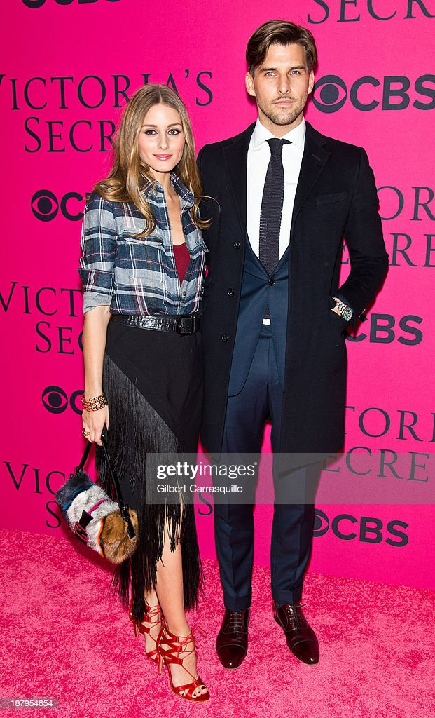 <a gi-track='captionPersonalityLinkClicked' href=/galleries/search?phrase=Olivia+Palermo&family=editorial&specificpeople=2639086 ng-click='$event.stopPropagation()'>Olivia Palermo</a> (L) and <a gi-track='captionPersonalityLinkClicked' href=/galleries/search?phrase=Johannes+Huebl&family=editorial&specificpeople=5696811 ng-click='$event.stopPropagation()'>Johannes Huebl</a> attend the 2013 Victoria's Secret Fashion Show at Lexington Avenue Armory on November 13, 2013 in New York City.
