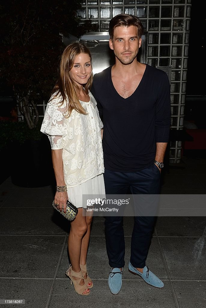 <a gi-track='captionPersonalityLinkClicked' href=/galleries/search?phrase=Olivia+Palermo&family=editorial&specificpeople=2639086 ng-click='$event.stopPropagation()'>Olivia Palermo</a> and Johannes Huebl attend The Cinema Society & Brooks Brothers Host A Screening Of Lionsgate And Roadside Attractions' 'Girl Most Likely' After Party at Hotel Americano on July 15, 2013 in New York City.