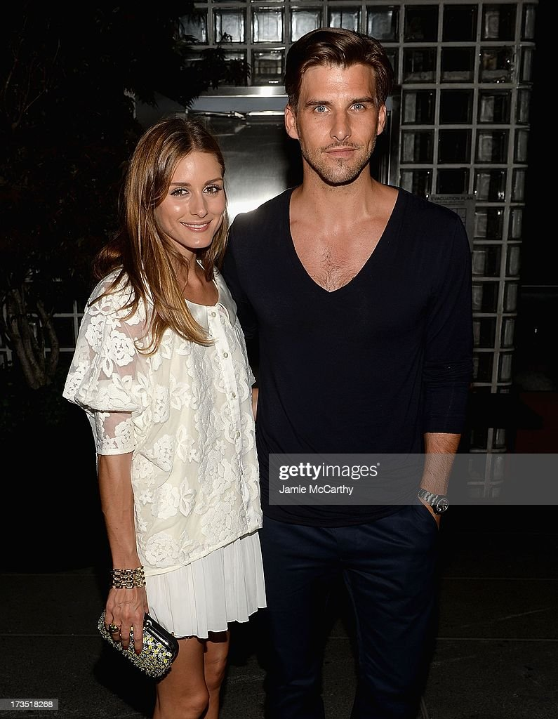 Olivia Palermo and Johannes Huebl attend The Cinema Society & Brooks Brothers Host A Screening Of Lionsgate And Roadside Attractions' 'Girl Most Likely' After Party at Hotel Americano on July 15, 2013 in New York City.