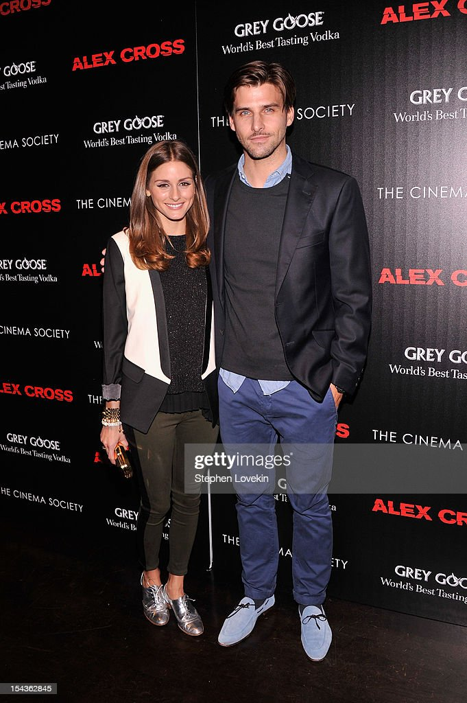 <a gi-track='captionPersonalityLinkClicked' href=/galleries/search?phrase=Olivia+Palermo&family=editorial&specificpeople=2639086 ng-click='$event.stopPropagation()'>Olivia Palermo</a> and Johannes Huebl attend The Cinema Society & Grey Goose screening of 'Alex Cross' on October 18, 2012 in New York City.