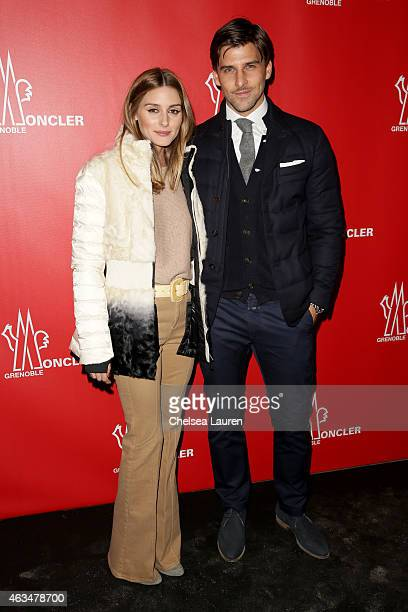 Olivia Palermo and Johannes Huebl attend the Moncler Grenoble Fall/Winter 2015 fashion show during New York Fashion Week Fall 2015 at the Duggal...